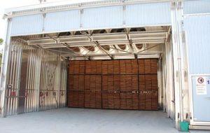 Cámara de secado de la madera