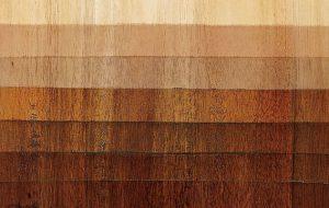 Gama de colores de la madera