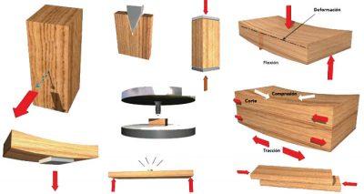 Resistencia mecánica de la madera de pino