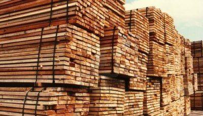 madera en el mercado