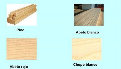 Usos de la madera blanda