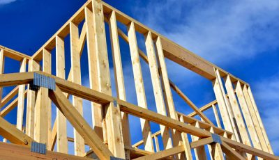 Construcción con vigas de madera